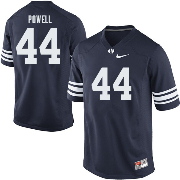 Men #44 Riggs Powell BYU Cougars College Football Jerseys Sale-Navy
