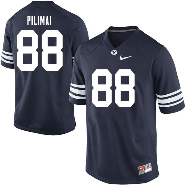 Men #88 Alema Pilimai BYU Cougars College Football Jerseys Sale-Navy