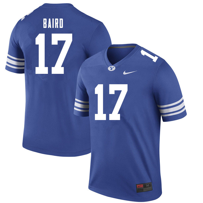 Men #17 Jonathan Baird BYU Cougars College Football Jerseys Sale-Royal
